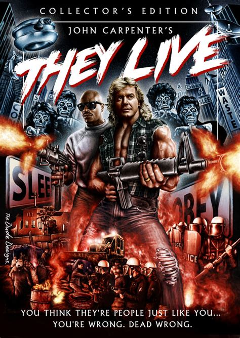 film blu live they live dvd blu ray cover by the dude designs mondo