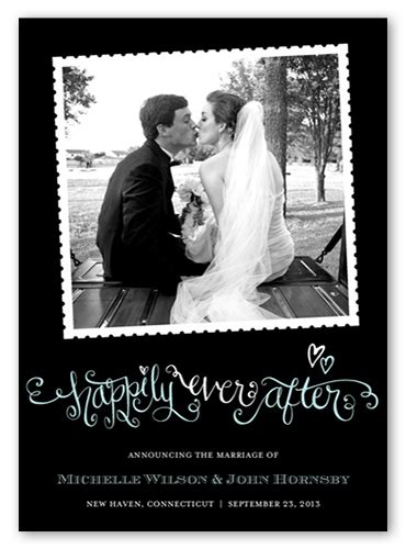 Wedding Announcements After Eloping by Happily After 5x7 Wedding Announcement Cards Shutterfly