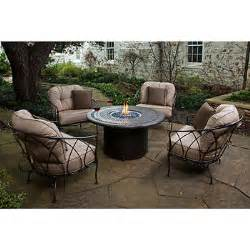 Costco Patio Furniture With Fire Pit by Medina 5 Piece Fire Chat Set