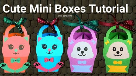 Handmade Paper Boxes Tutorial - easy handmade box diy boxes diy mini boxes