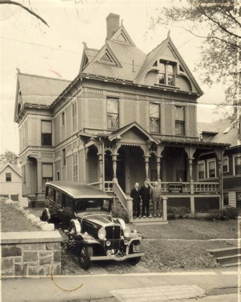 the sutherland bailey funeral home on willow st circa 1932