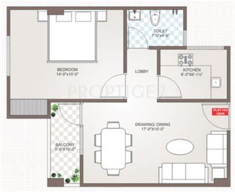 750 square feet floor plan 750 sq ft 1 bhk floor plan image guman group mayfair heights available for sale proptiger com