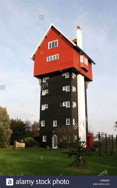 tallest house a very tall house in suffolk stock photo royalty free