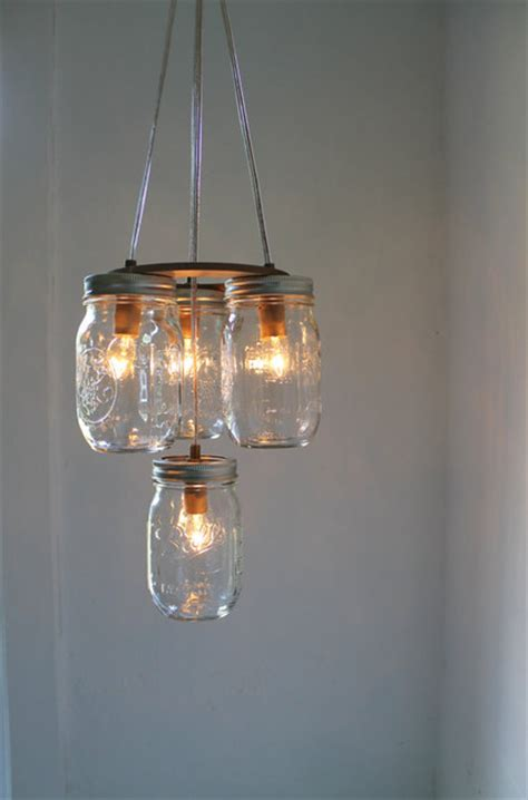 Eclectic Chandelier Lighting Jar Chandelier By Boots N Gus Eclectic Chandeliers By Etsy