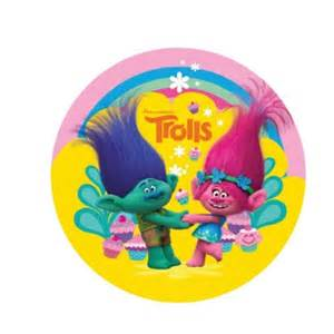 trolls round edible icing cake image kids themed party supplies character parties australia