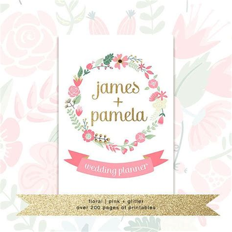 printable wedding planner journal printable wedding planner with custom cover us by