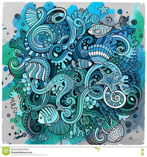 doodle 4 underwater doodles underwater illustration