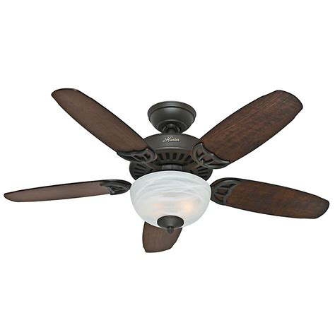 hunter ceiling fans home depot hunter crawford 46 in indoor new bronze ceiling fan 51057