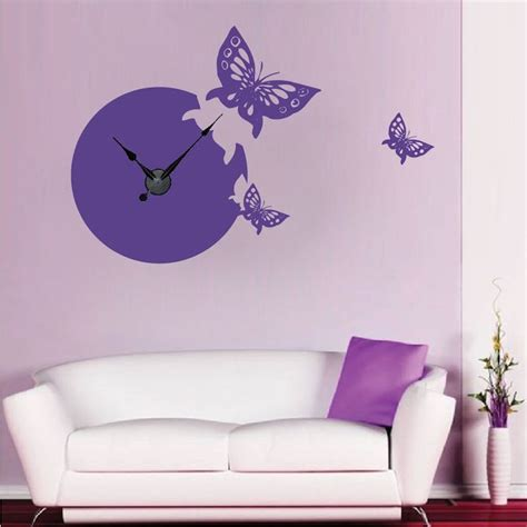 trendy wall designs 17 best images about clock wall decals on pinterest zebra print modern clock and clock