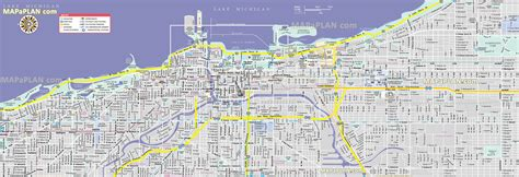 printable street map chicago printable downtown chicago map printable maps