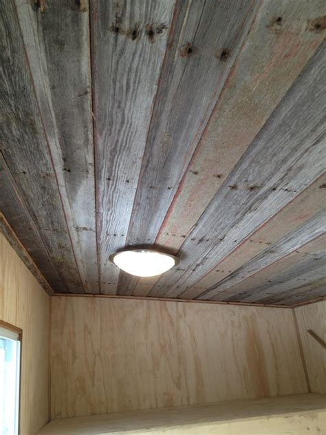 Barn Board Ceiling bunkie with barn board ceiling