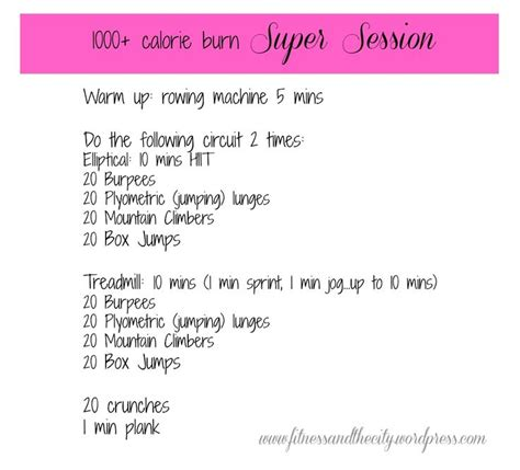 1000 calorie burn workout workin on my fitness