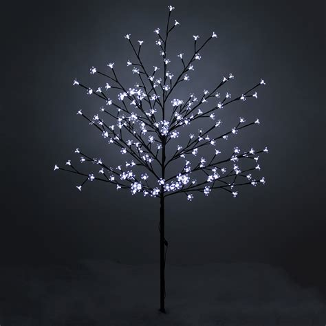 Lights For Outdoor Trees 150cm 59 Quot 200 Led Lights Outdoor Blossom Tree Outdoor Pre Lit Tree Ebay