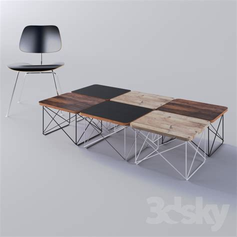 3d models table eames wire base low table by charles