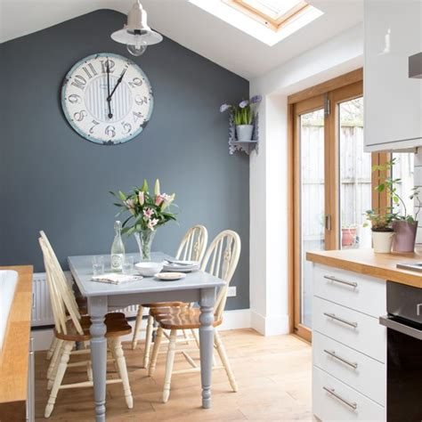 kitchen feature wall paint ideas white kitchen with grey feature wall decorating with white housetohome co uk