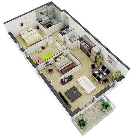 District House Floor Plans - awesome 3d floor plans for small or medium house plan