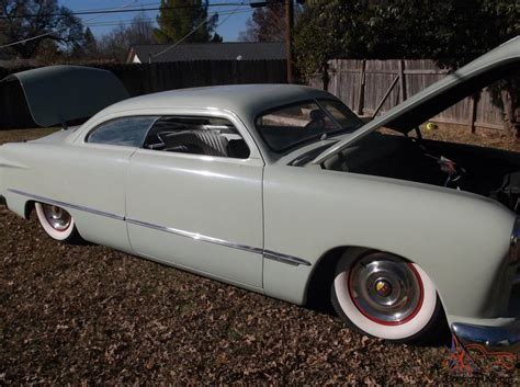 1950 ford shoebox custom chop channeled and air bagged in