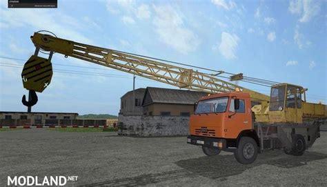 kamaz  crane   mod farming simulator