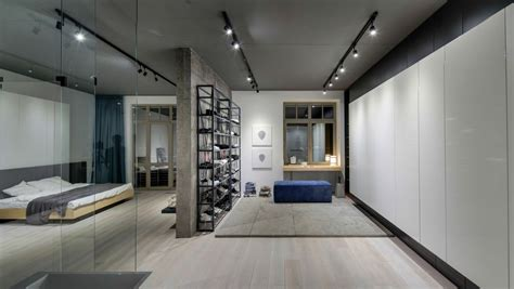 good Small Apartment Interior Design #4: minimal-kiev-apartment-wall-unit.jpg