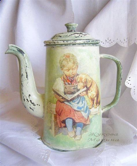 Decoupage Tins - 565 best images on