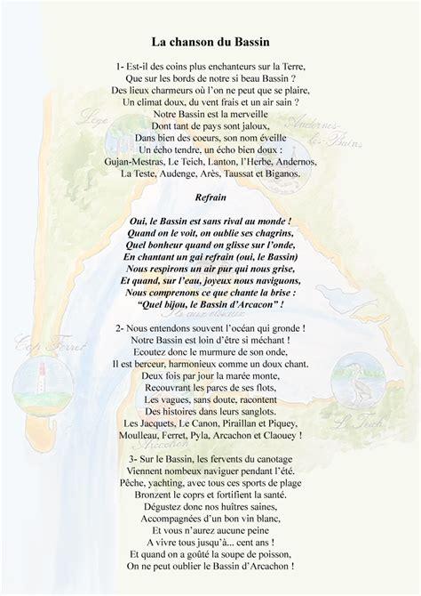 la chanson du bassin du c 244 t 233 du teich