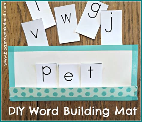 Building Mat by Word Building Mat A And Easy Diy Project Make