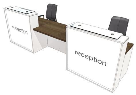 Two Person Reception Desk Two Person Reception Desk Evo Lite Office Reality