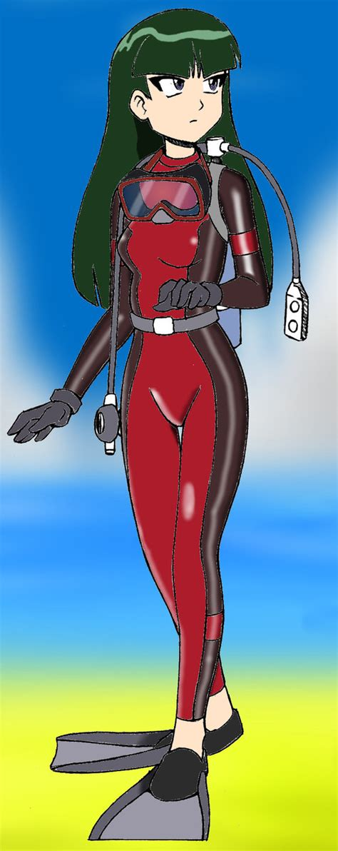 Sabrina Scuba scuba sabrina on land by dr scaphandre on deviantart
