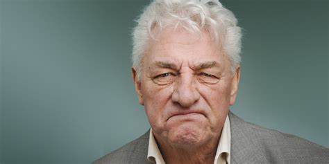average 70 year old face the age at which men officially become grumpy huffpost