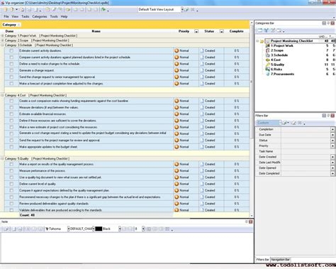 project monitoring plan template project checklist milestones and deliverables how to