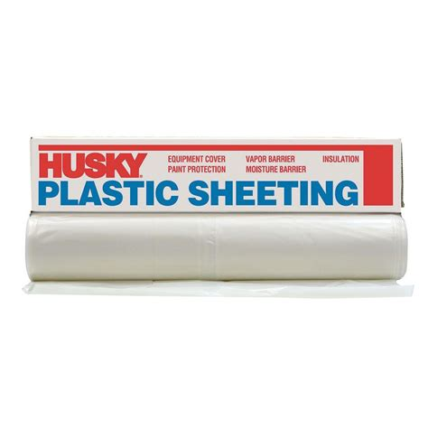 husky 8 ft 4 in x 100 ft clear 4 mil plastic sheeting