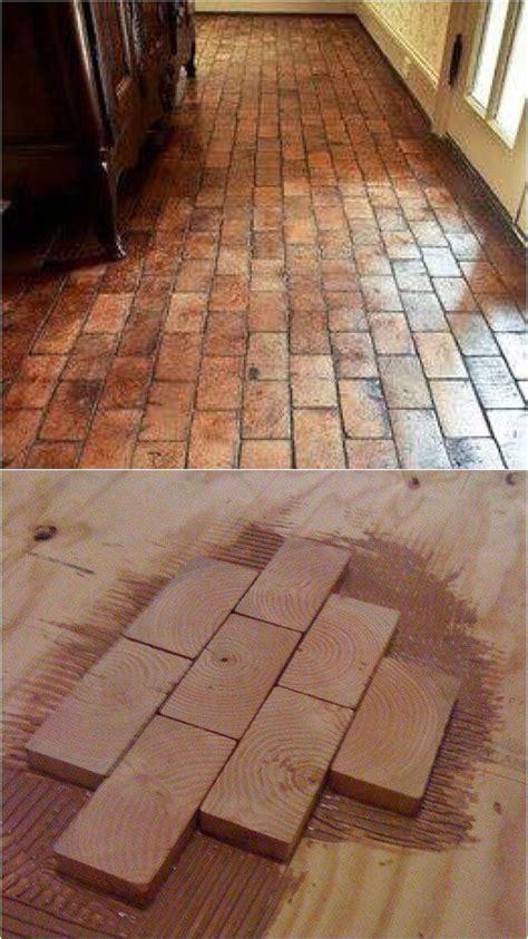 Wood Pallet Flooring Cut  Bricks Google Search