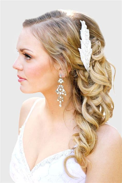 wedding hair and curled makeup hairstyles curled hair 2153464 weddbook