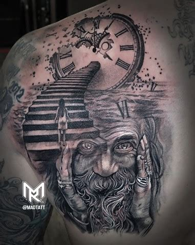 father time tattoo the of maddalena ruggiero