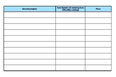 supply list template office supply list template office supply inventory