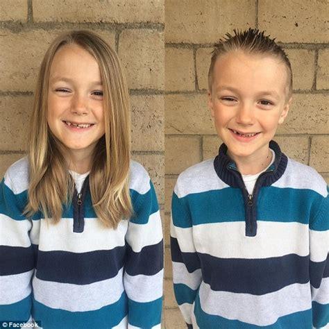 how to grow out boys hair cancer diagnosis for boy who donated hair photos