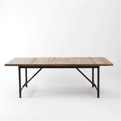 emmerson industrial expandable dining table rustic