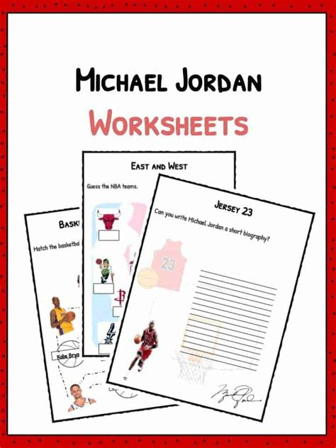 Michael Jordan Biography Worksheet | michael jordan facts biography information worksheets