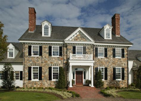 colonial home builders period colonial home exterior philadelphia by dewson