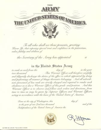 officer promotion certificate template army best