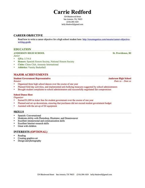 Resume For High School Student With No Experience by High School Student Resume Sles No Experience High
