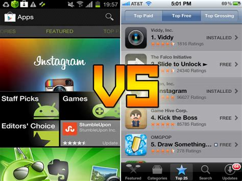 Play Store Vs App Store Play Android Market Vs Apple App Store 2012