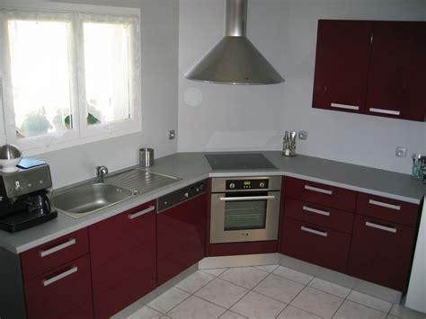 cuisine grise et bordeaux photo cuisine grise et 12 cuisine int233gr233e