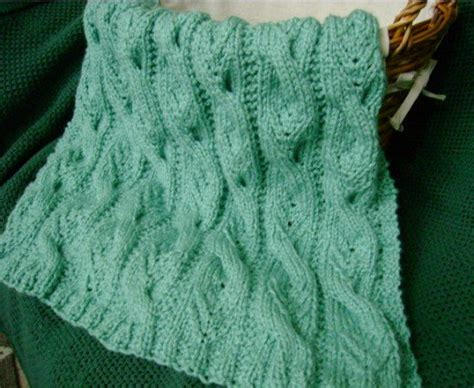 knitted afghan patterns a knitting blog free afghan knitting pattern quot sweet cables quot baby blanket