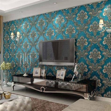 blue living room wallpaper blue living room wallpaper modern house