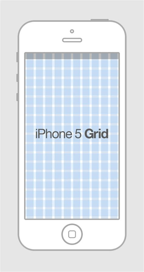 free iphone 5 grid template psd titanui