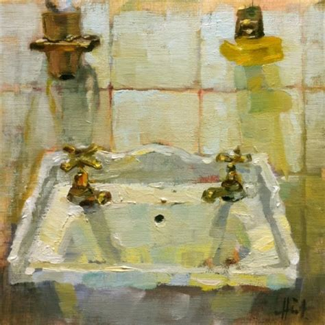 paintings for the bathroom hot and cold bathroom sink original painting by artist