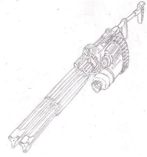 minigun coloring page super minigun ii by warkom on deviantart