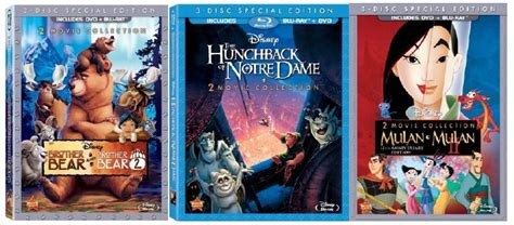 disneys brother bear movie dvd blu ray trailer woning brother bear mulan and the hunchback of notre dame new on