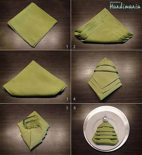 christmas tree napkin fold napkin folding pinterest
